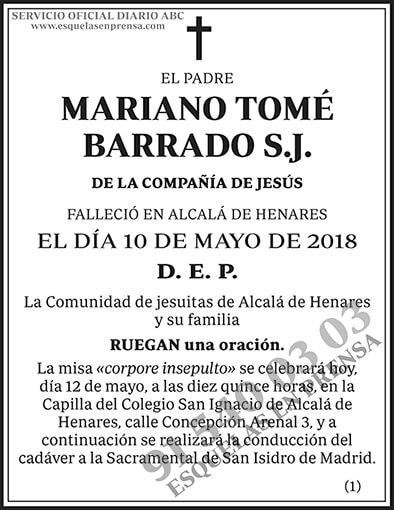Mariano Tomé Barrado S.J.